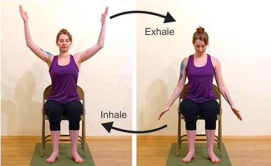 chair yoga for readers and people who sit too long
