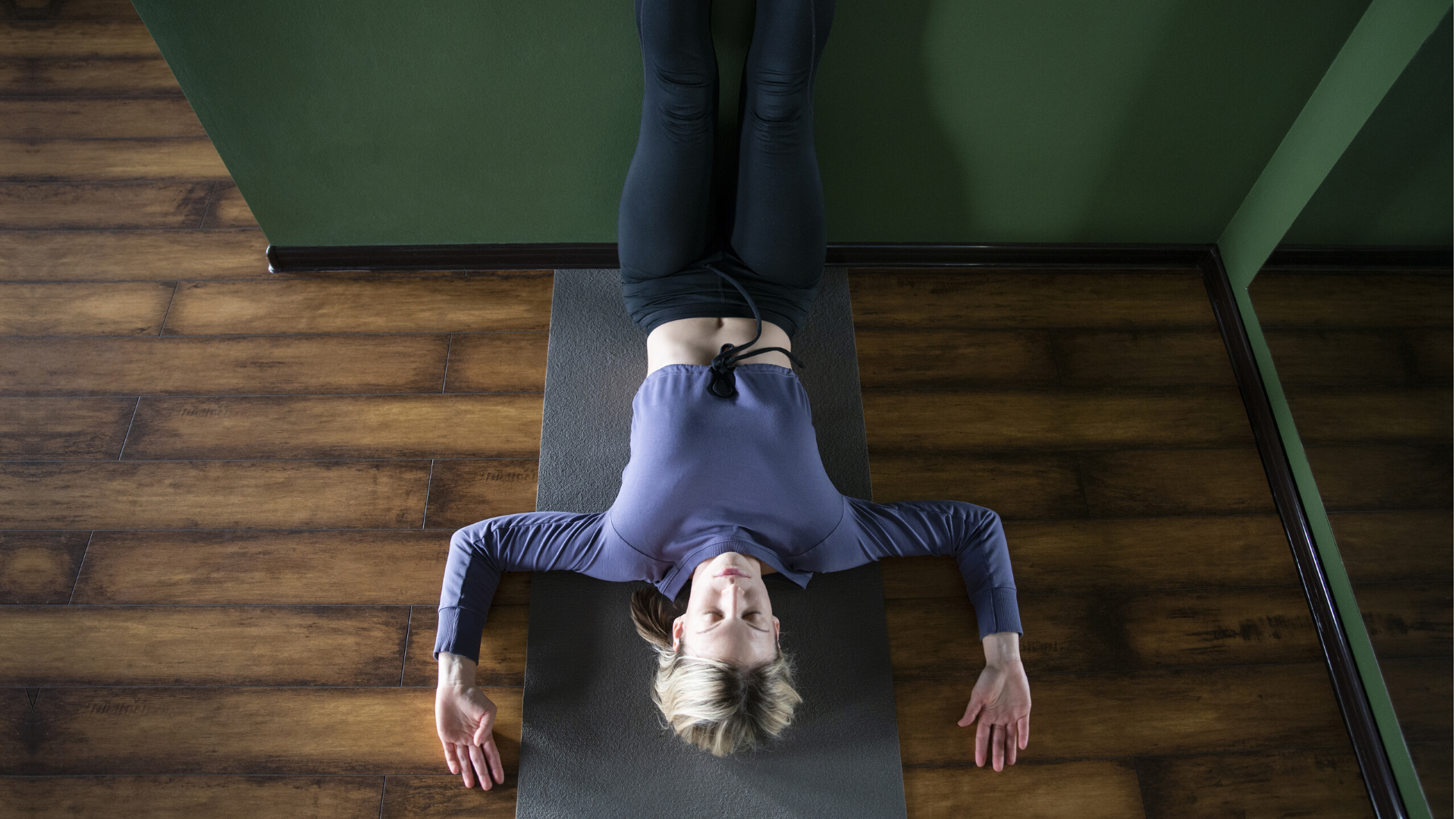 Legs-Up-the-Wall Pose (Viparita Karani) yoga for psoas