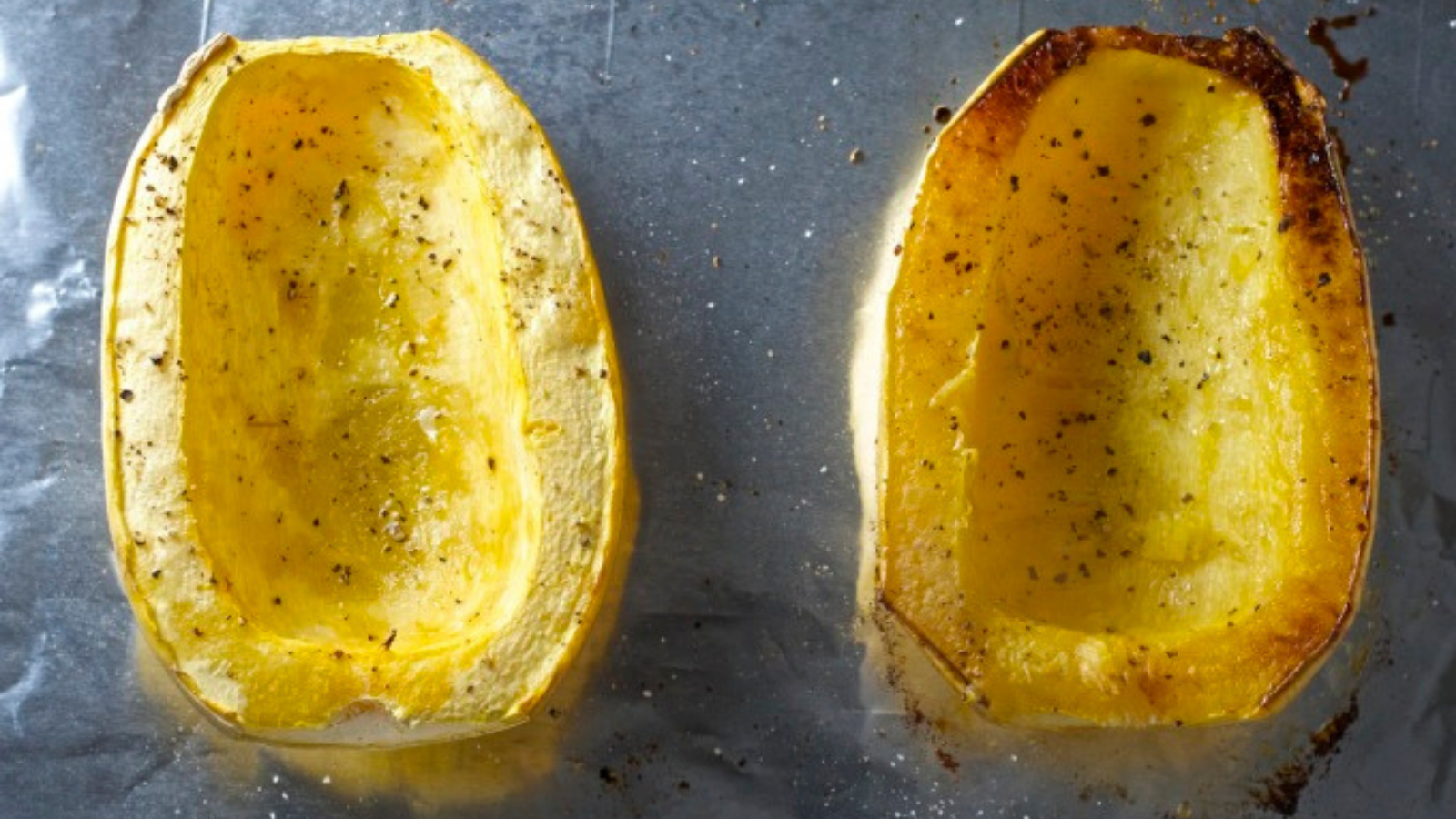 How to cut and roast winter spaghetti squash