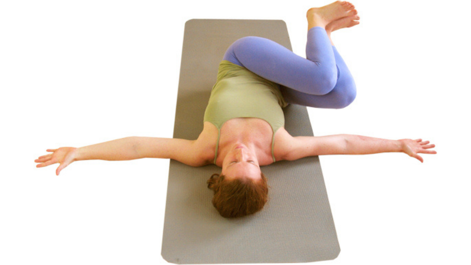 Yoga twisting for a healthy back with Belly Turning Pose