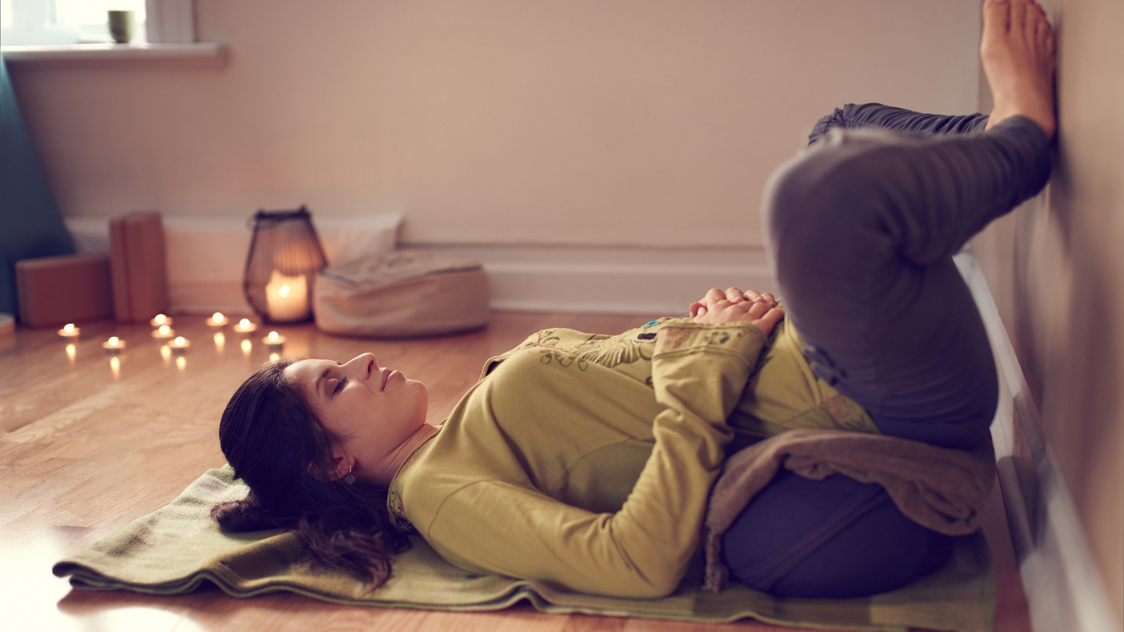 Restorative Yoga is an activity that will help prepare your body for sleep