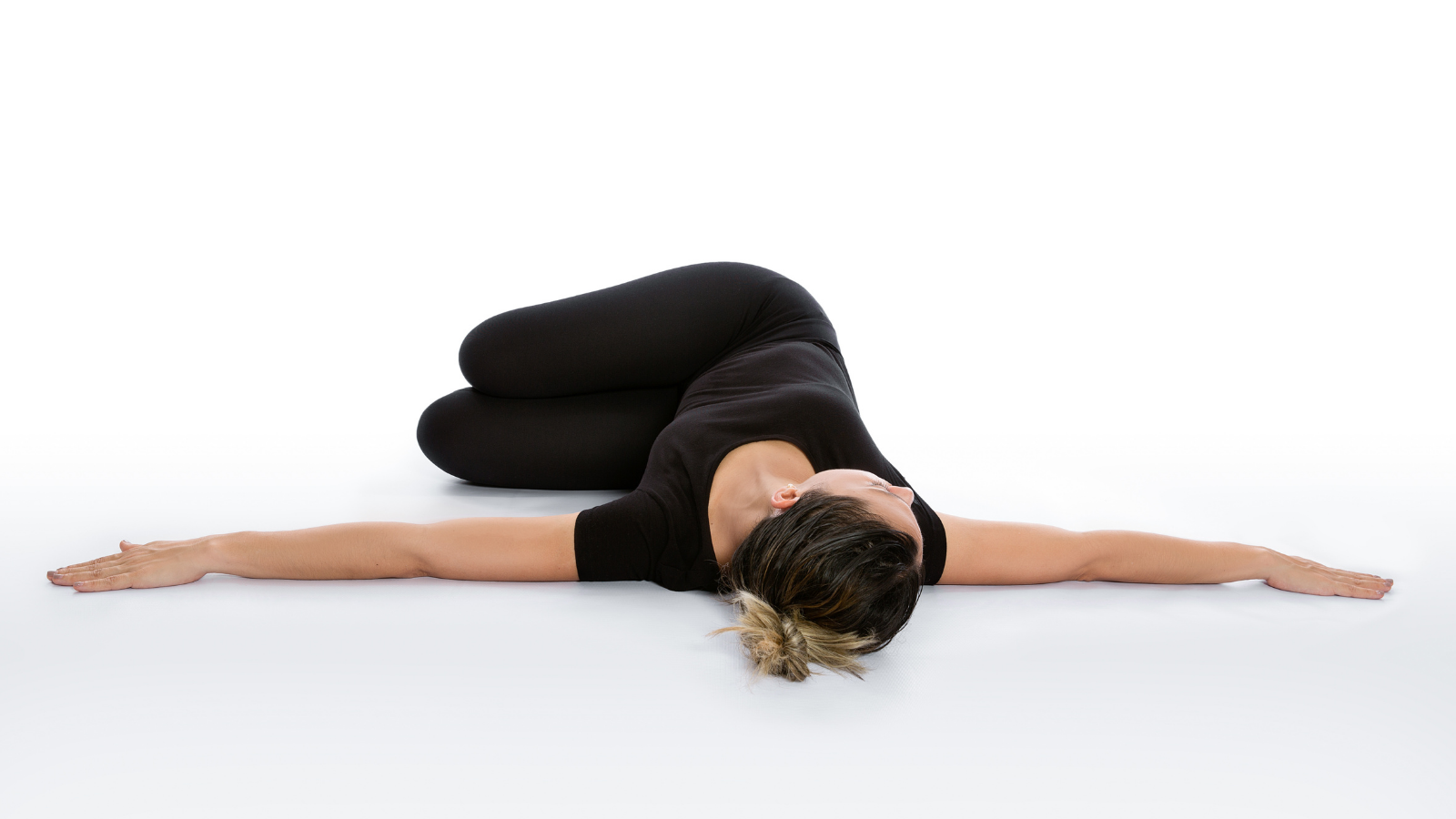 How to practice Abductor Stretch: Supine Spinal Twist yoga Pose (Supta Matsyendrasana) for pelvic alignment