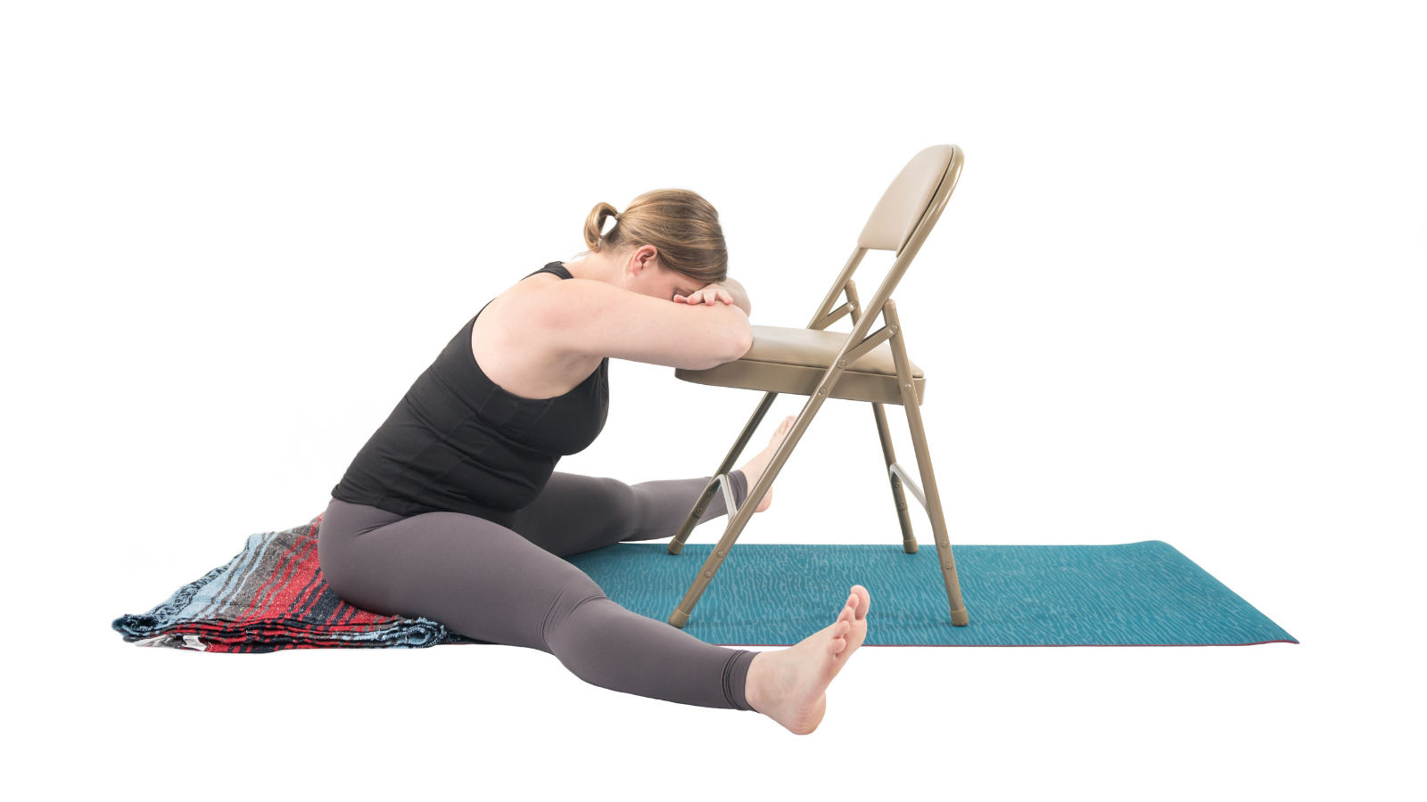 Restorative Forward Fold for calming the mind and body
