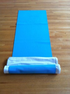 Virasana, Hero's pose, protect knees and feet, yoga with props, props that are best for Virasana