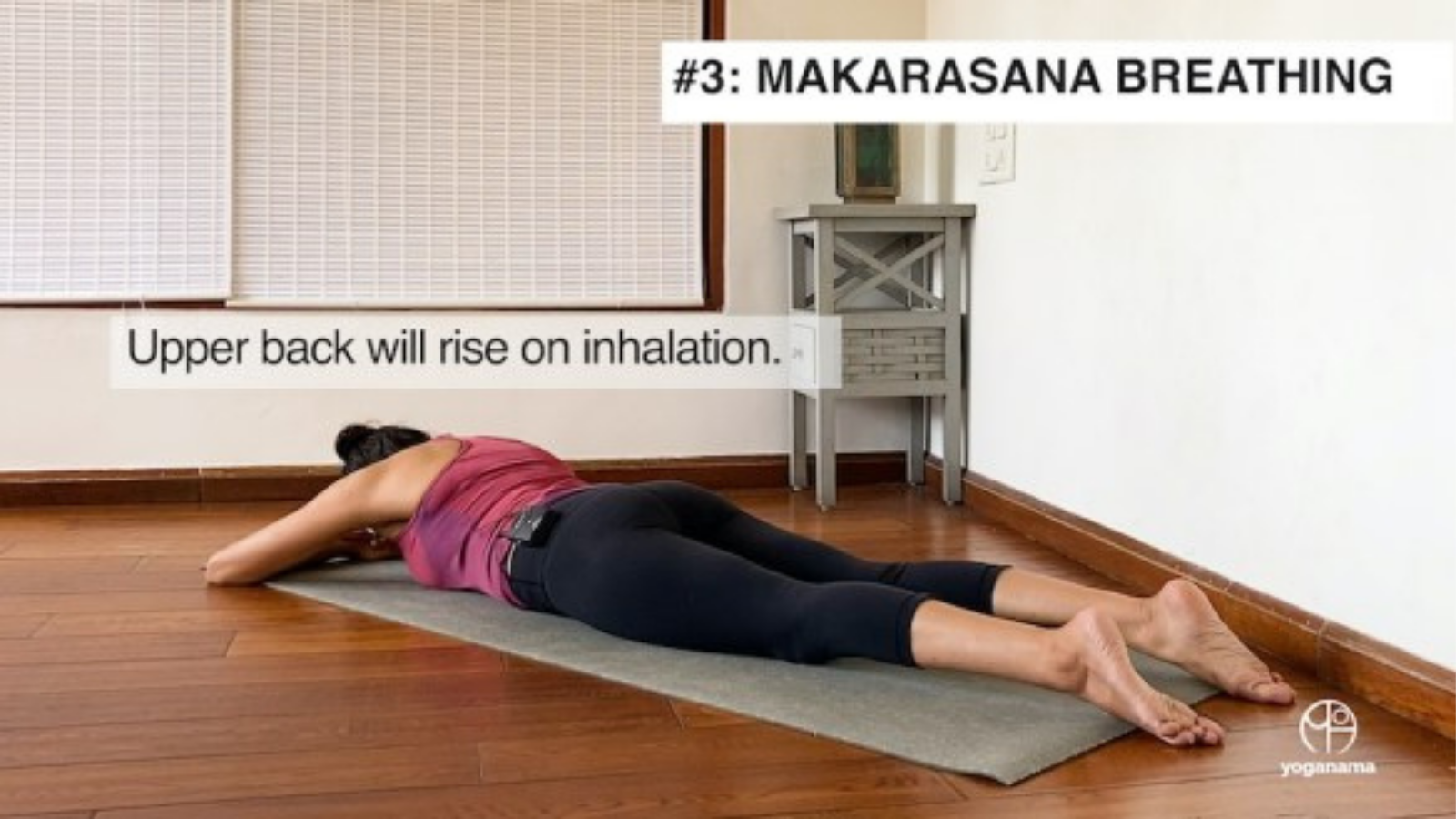 How to practice Crocodile Pose (Makarasana) Breathing Exercise for better lung capacity