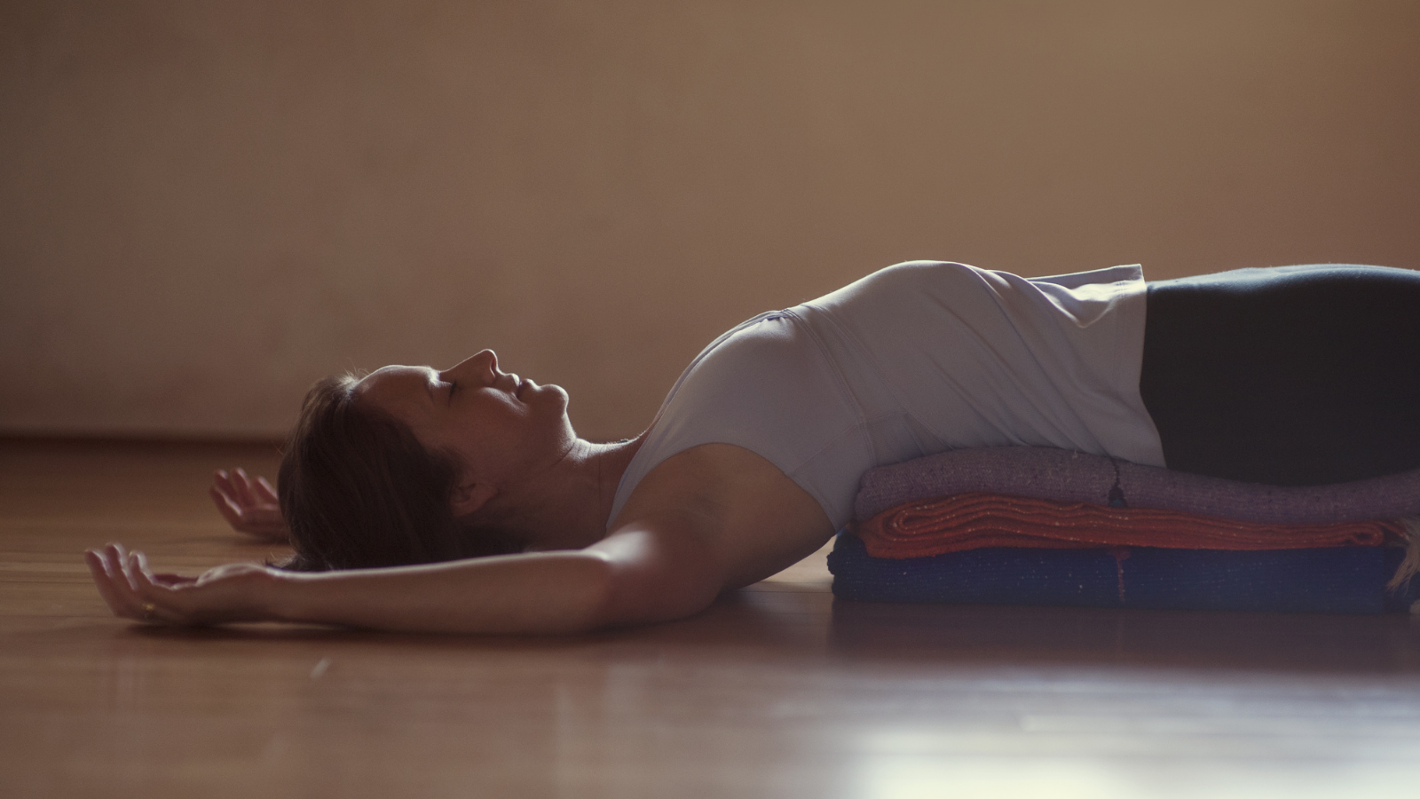 Restorative Fish Pose as a wonderful way to rest and replenish