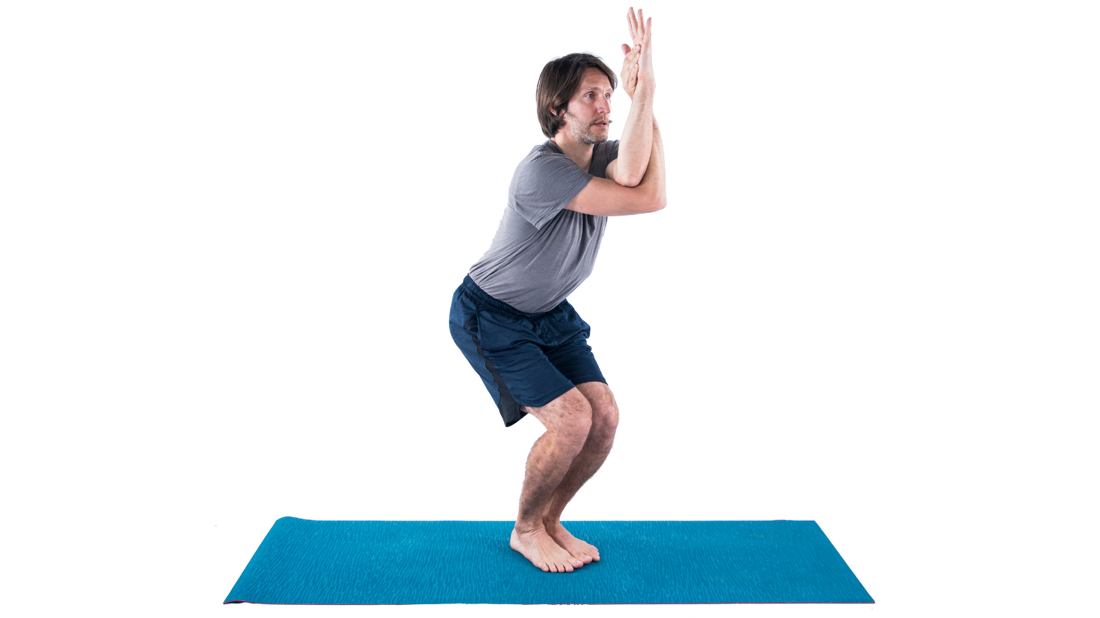 How to practice Eagle Pose (Sanskrit name: Garudasana) in a modified way by removing an element of the pose