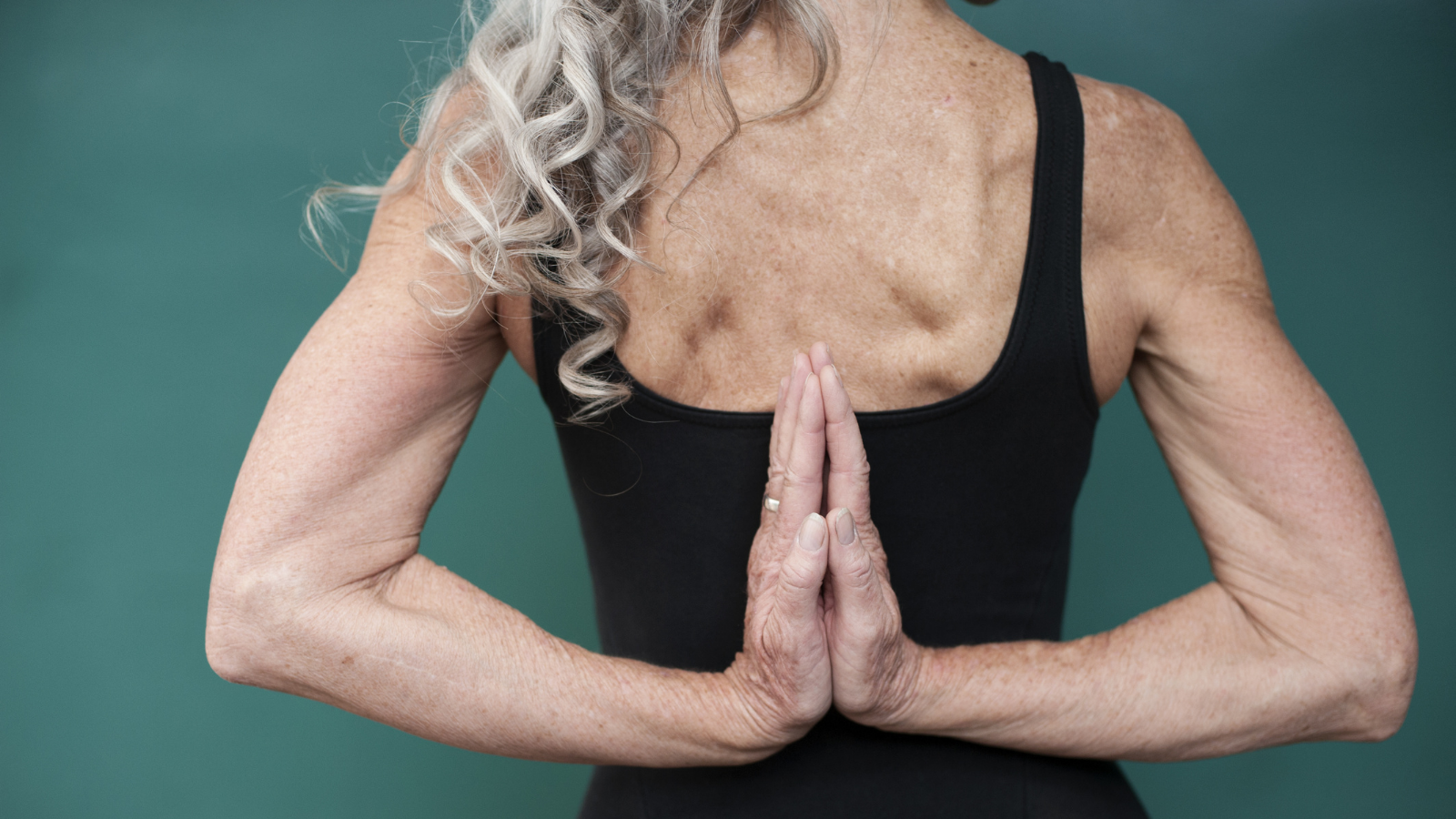 Image showing woman with good posture and yoga asana that helps posture