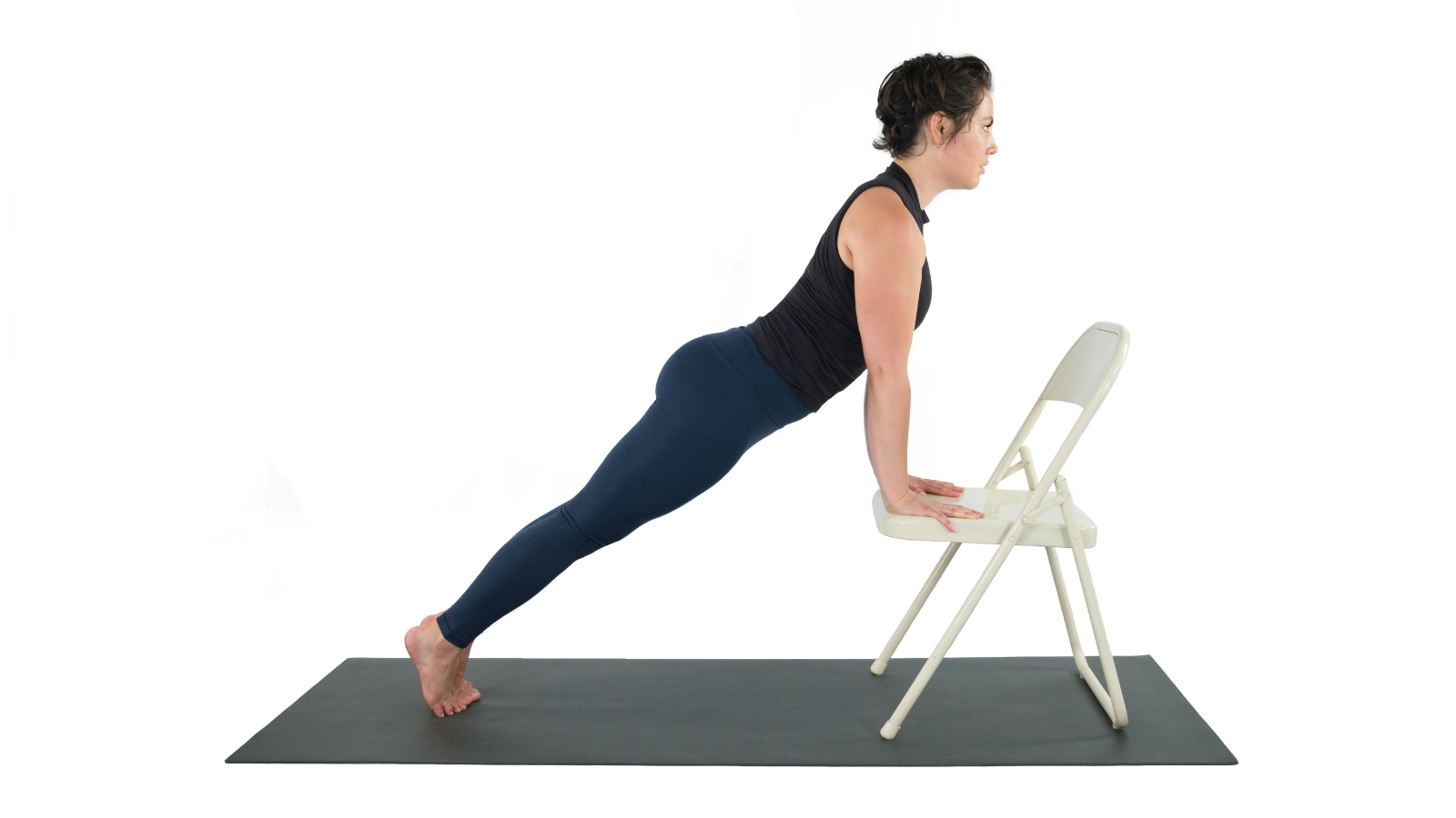 Plank Pose variation with chair (Phalakasana)and its assistance to the study of the Manipura Chakra