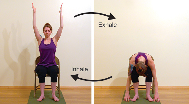 Chair Yoga, Gentle movements, yoga for over 50, yoga for sitting too much