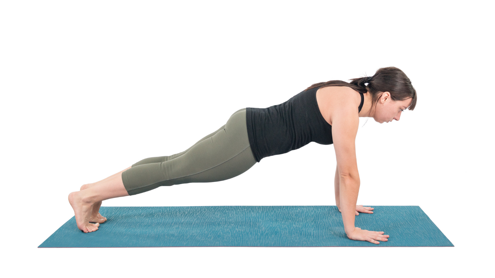 Plank Pose a core strengthening yoga pose
