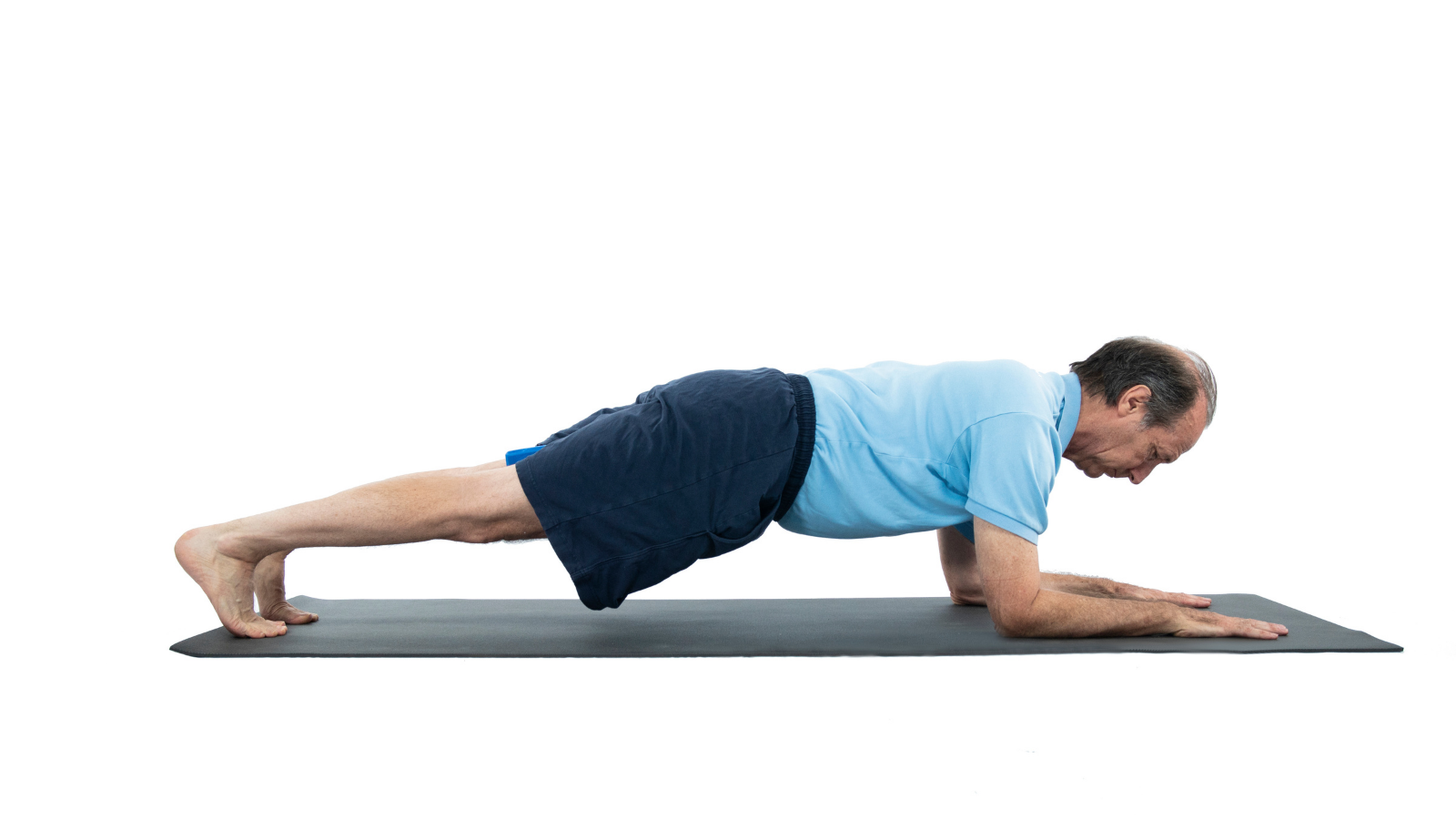 Plank Pose variation supported with your forearms