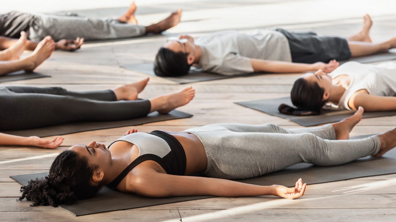 Yoga tips to practice Relaxation Pose (Savasana) to reduce tension and stress that causes tension headaches
