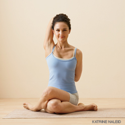 Mobilizing the External Rotators with External Rotation in Cow Face yoga Pose (Gomukhasana)