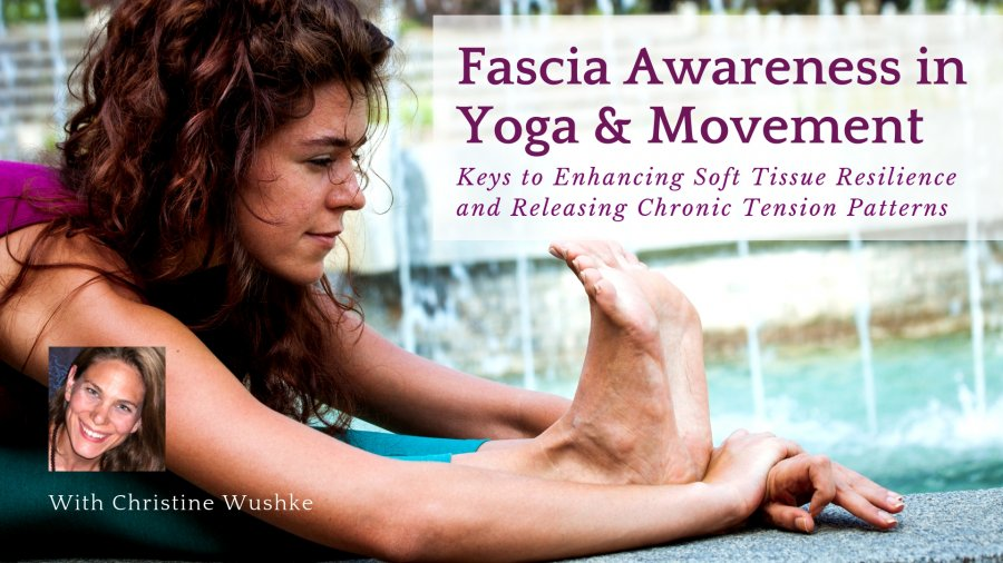 """Online course with Christine Wushke, called, """"Fascia Awareness in Yoga & Movement: Keys to Enhancing Soft Tissue Resilience and Releasing Chronic Tension Patterns"""""""