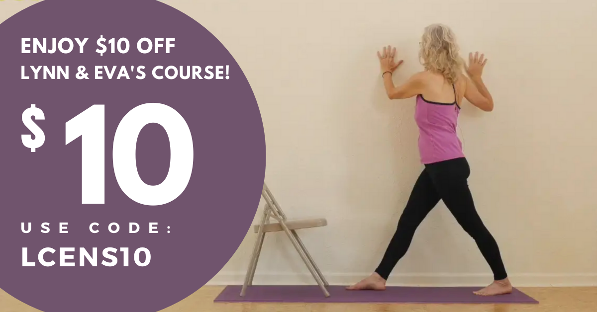 Online yoga course for teaching yoga to older beginners $10 coupon code