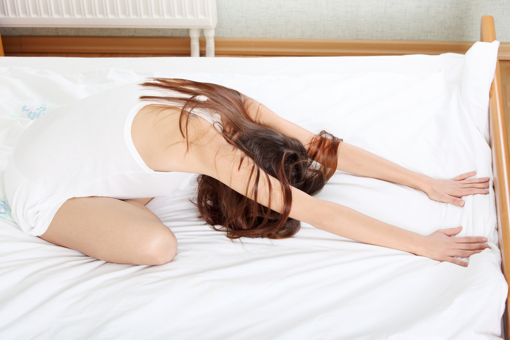 Supported Forward Bend yoga pose for better sleep