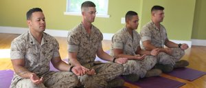 military and yoga,  fostering community, service, connection, staying connected, giving back
