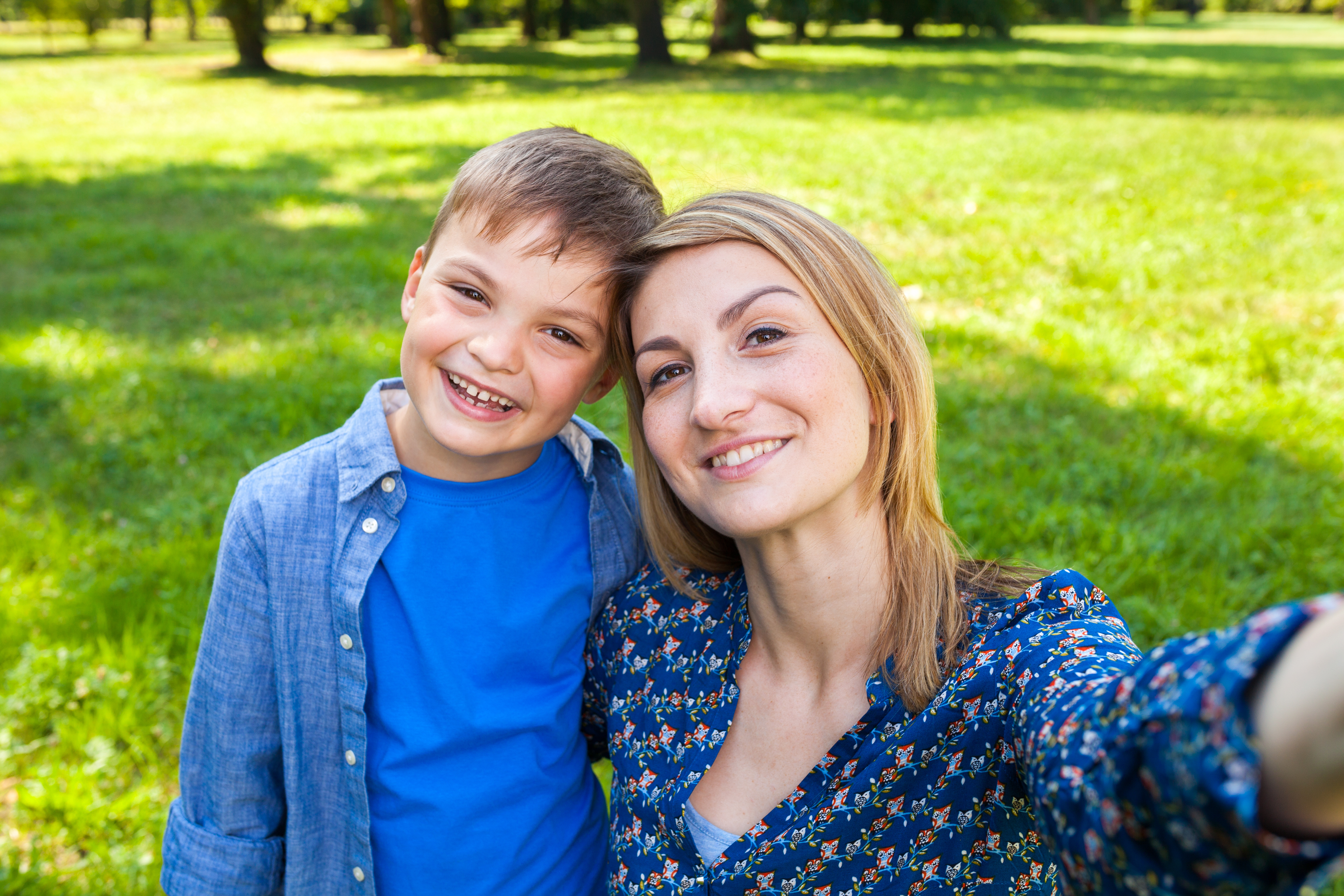 happy Mom and Son, a day together, plans change, going with the flow, going to the park