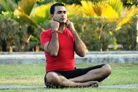 Humming Bee breath, Bhramari Breathing, humming sound relaxes, yoga breathing for improved health