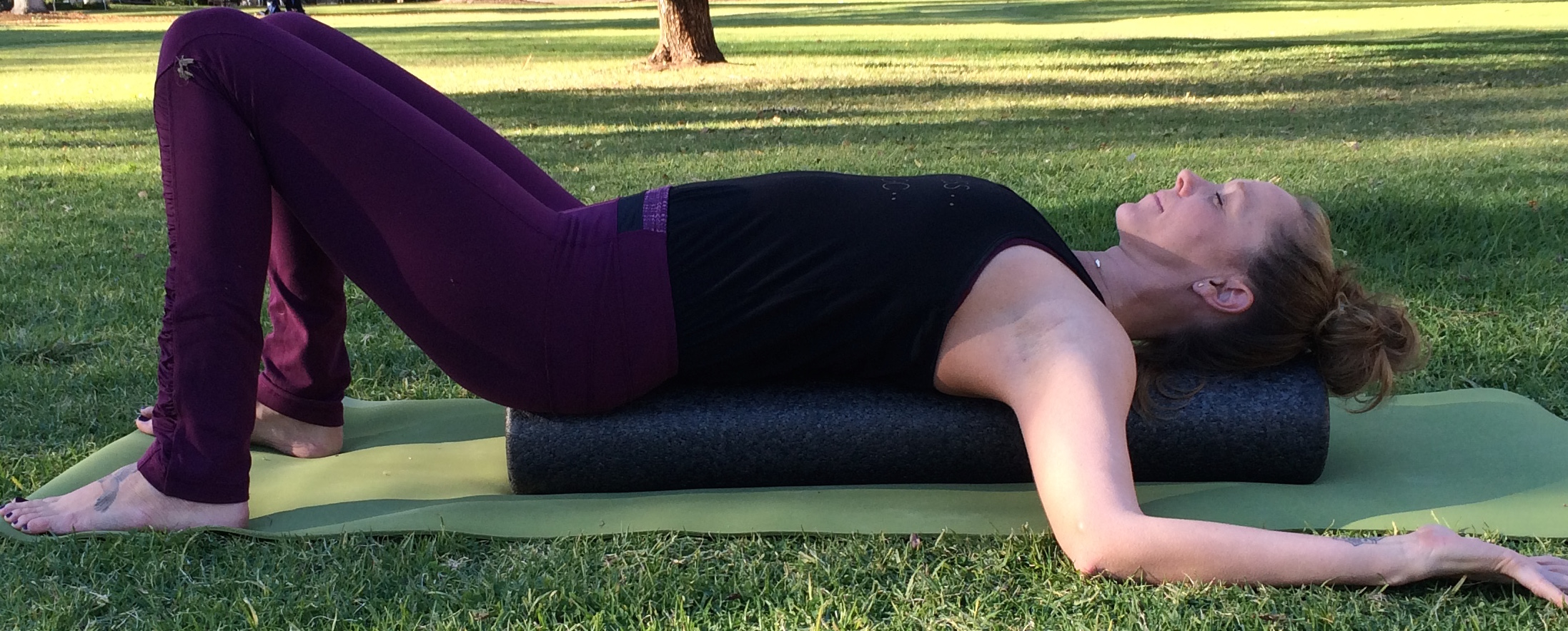 foamroller myofasical release - yoga for headaches