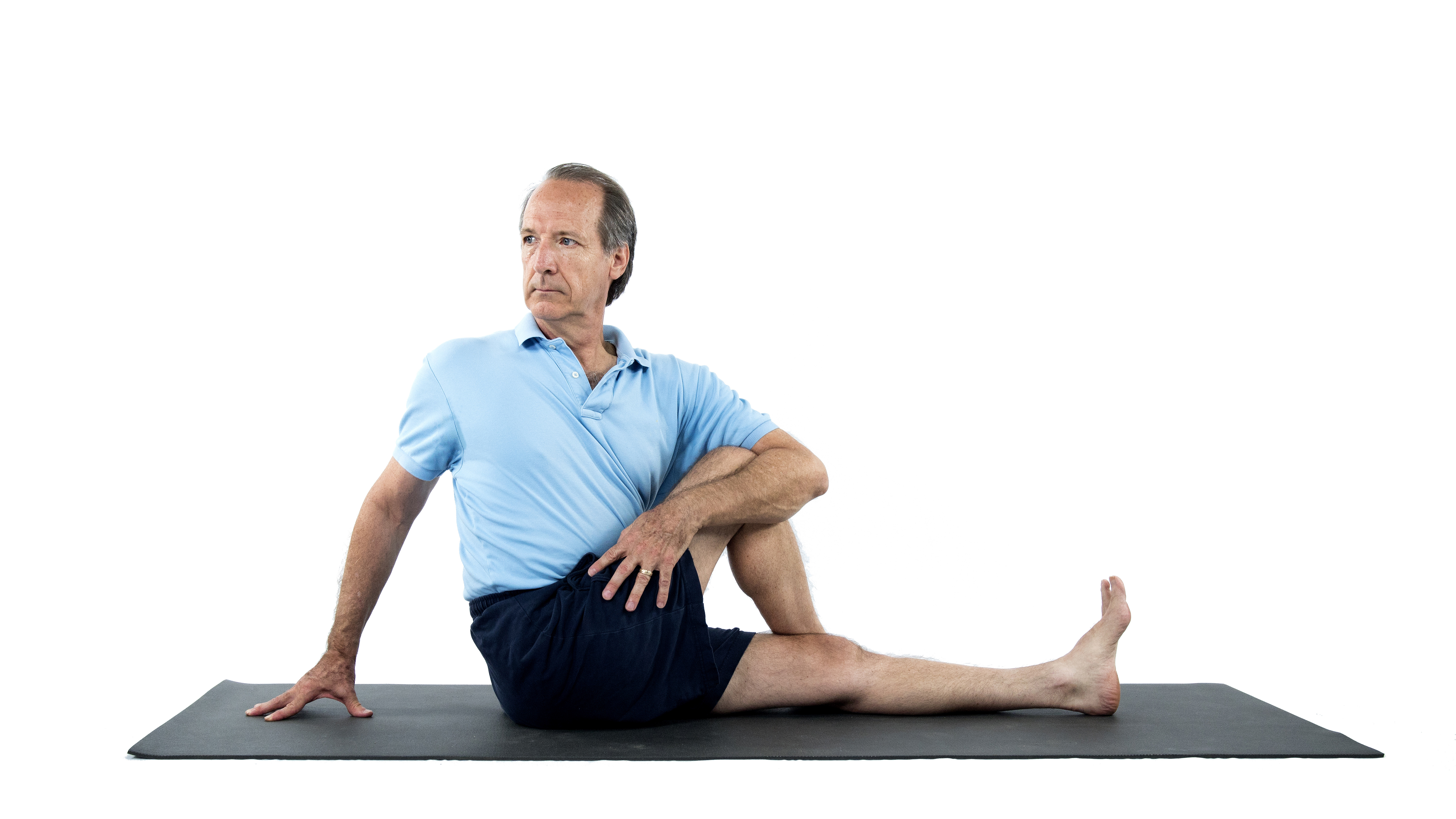 Marichyasana, great sage pose, gentle twists, twists in yoga, yoga over 50, yoga for digestive health