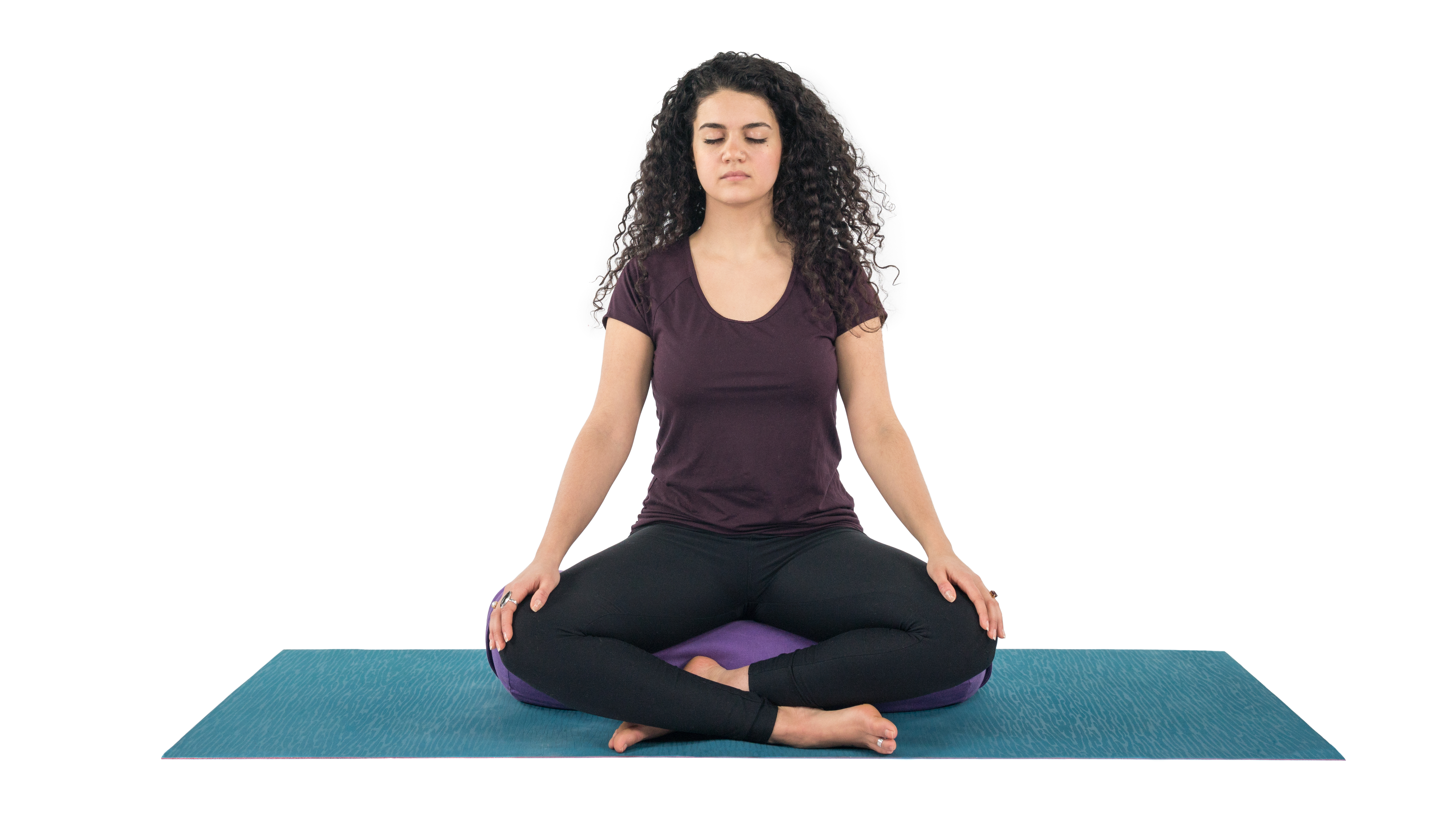 Meditation, beginner's yoga, quiet time, sukasana, self care, yoga to start and end your day