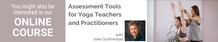 Julie Gudmestad, Yoga teacher, Yoga therapist, Assessment tools In yoga, Yoga and Anatomy, Yoga and Anatomy-based alignment