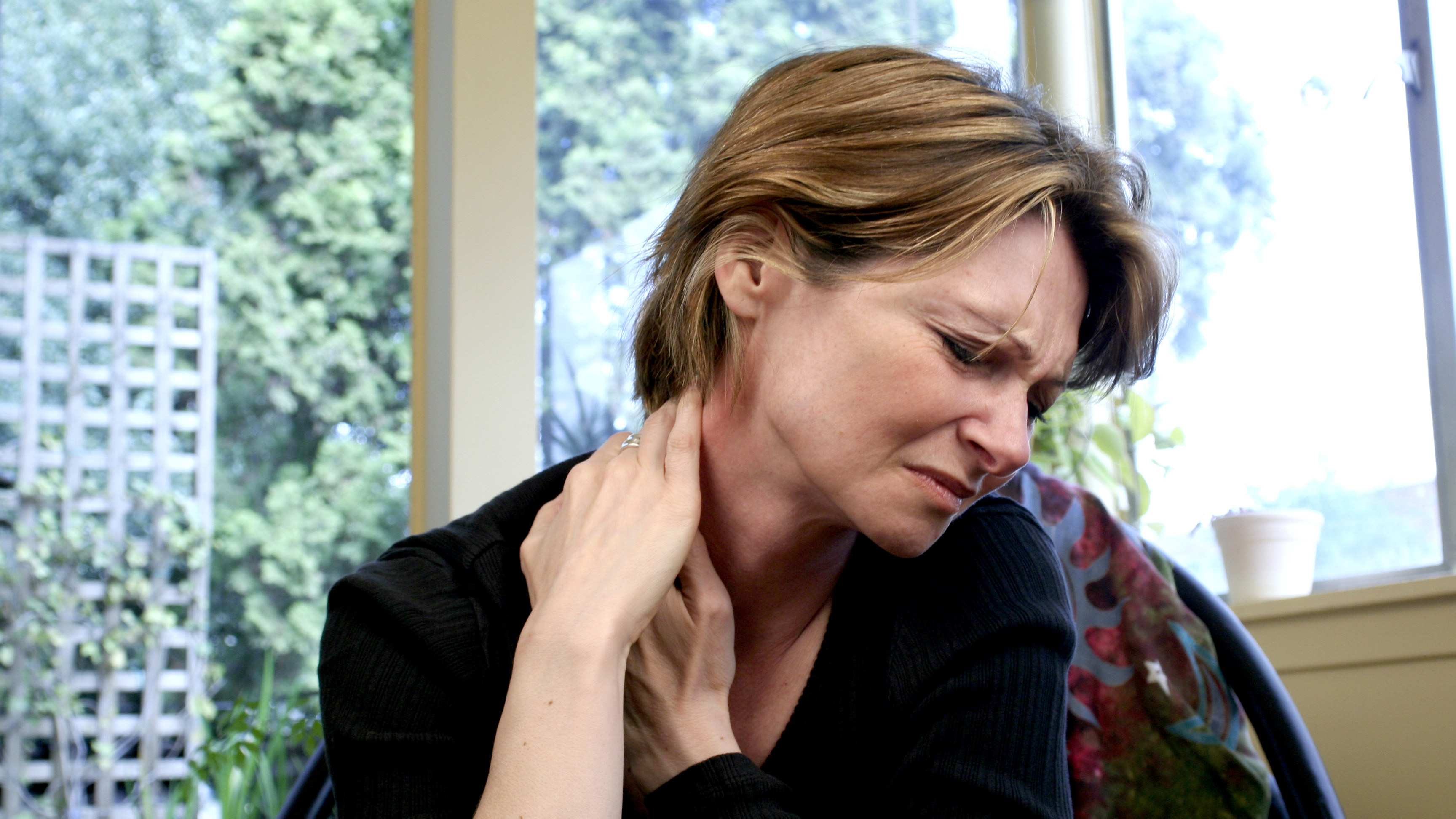 neck pain, stress, factors for aging, the role of stress in aging, finding balance for longevity