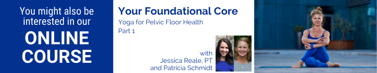 Yoga for Pelvic Floor Health a course by Jessica RealePT and Patty Schmidt for YogaUOnline Education