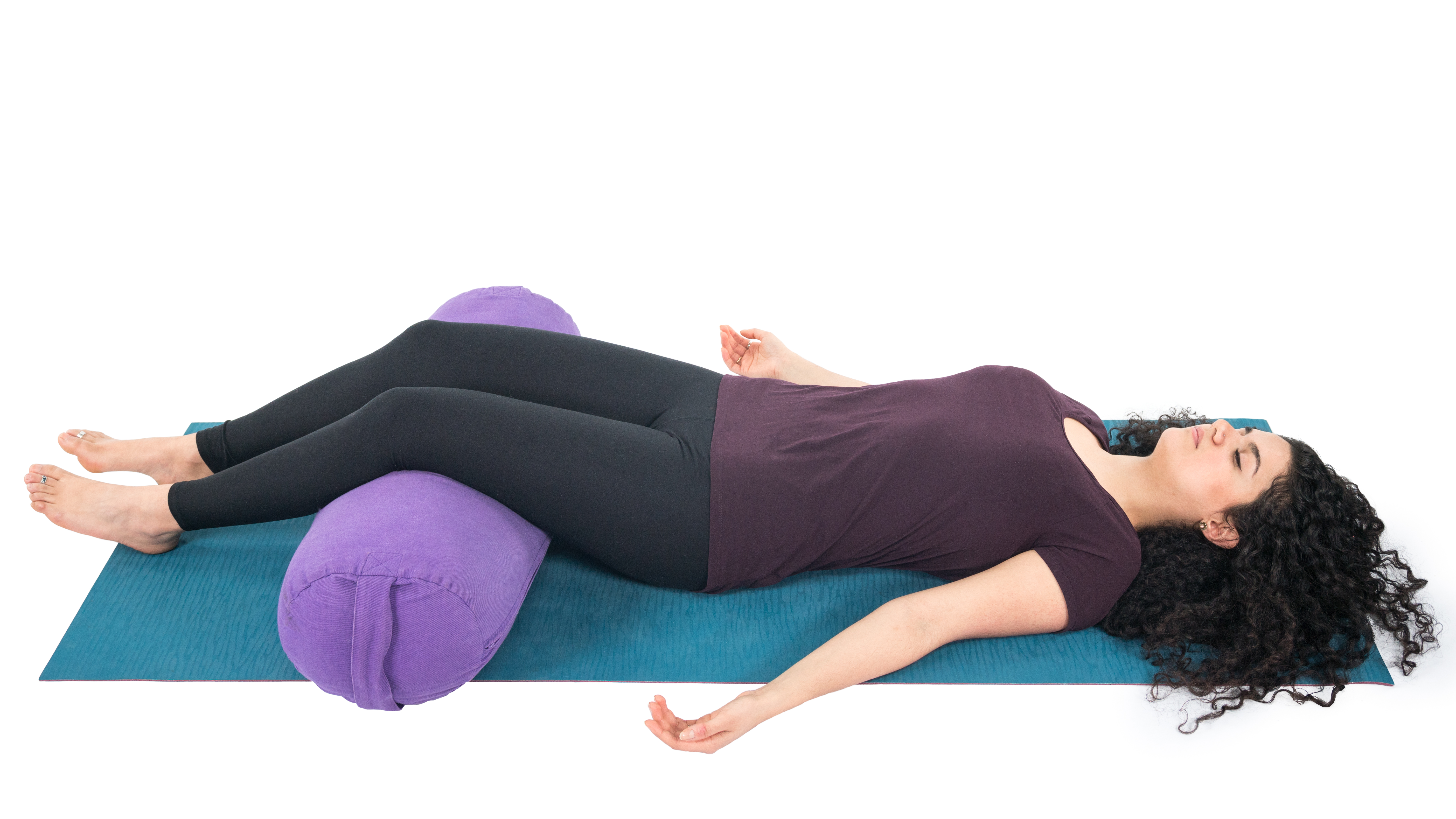 Savasana, corpse pose, resting pose, using props, beginner's yoga, slowing down, slow yoga