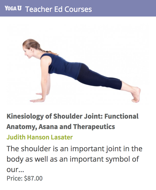 Kinesiology of Shoulder Joint: Functional Anatomy, Asana and ...