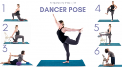 Preparation yoga sequence for Dancer Pose (Natarajasana)