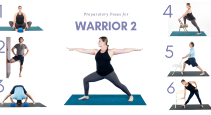 warrior 2 prep poses