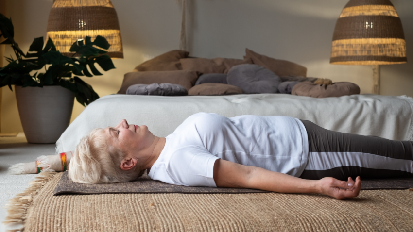 Savasana, Corpse Pose, Relaxation pose, sleeping positions and sleeping health