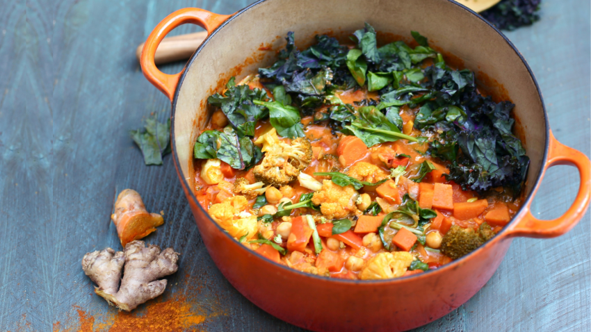 Yoga wellness tips to make a immune-boosting curry in a hurry with healing spices