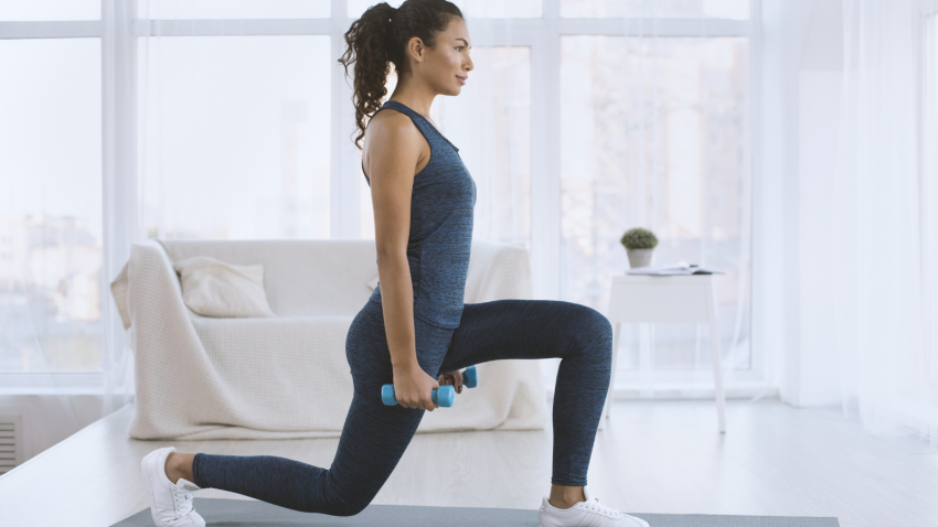How to bring awareness to the arms in standing yoga poses in Low Lunge Pose