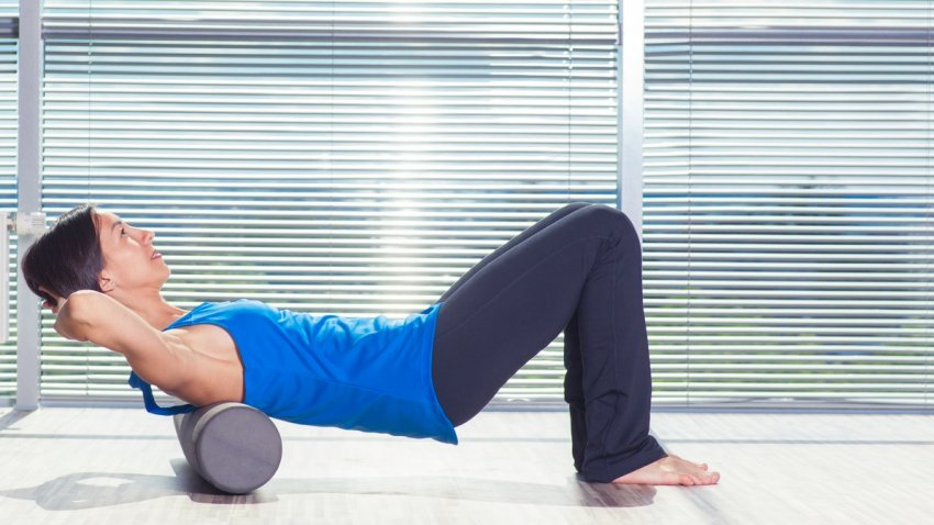 Yoga For Headaches 3 Ways To Use The Foam Roller To Release Tension Yogauonline