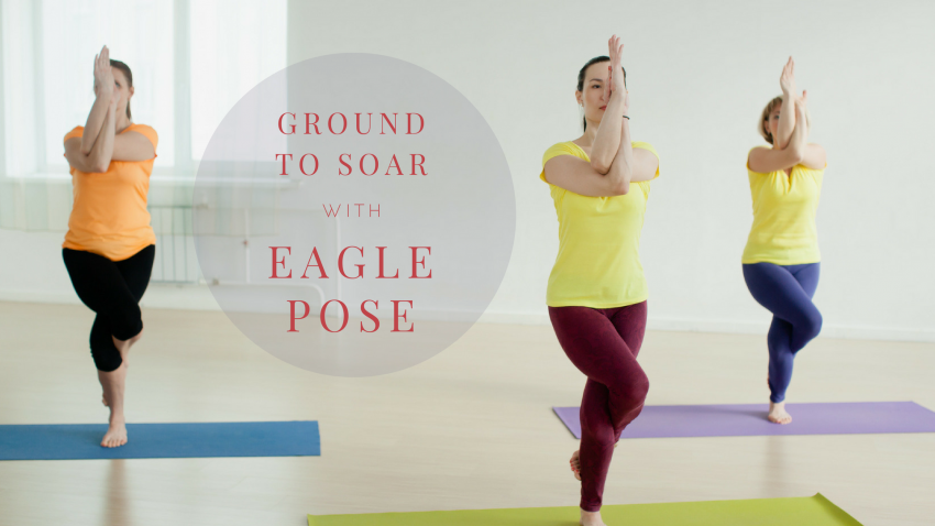 Garudasana, eagle pose