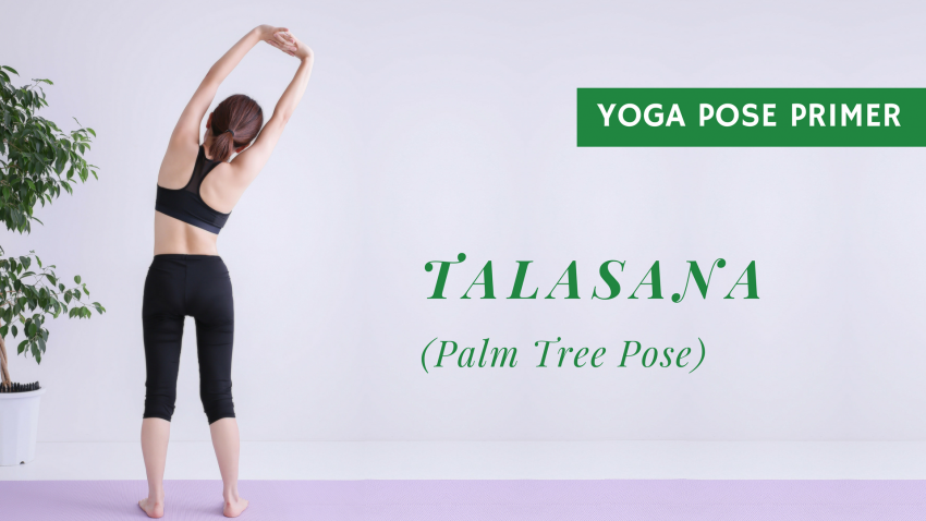 Palm tree pose