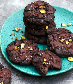 Chocolate-Cherry Cookies with Pistachios