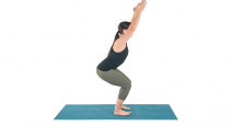 How to practice yoga for pelvic floor health and urinary incontinence in Chair Pose (Utkatasana)