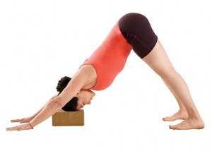 Supported Adho Mukha Svaanasana downward facing dog.