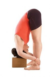 Supported Uttanasana, supported forward fold,