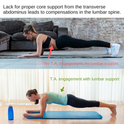 Weak vs strong transverse abdominus in yoga
