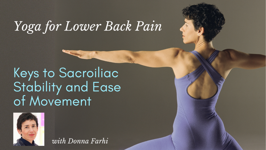 Donna Farhi Online Yoga Course for SI Joint